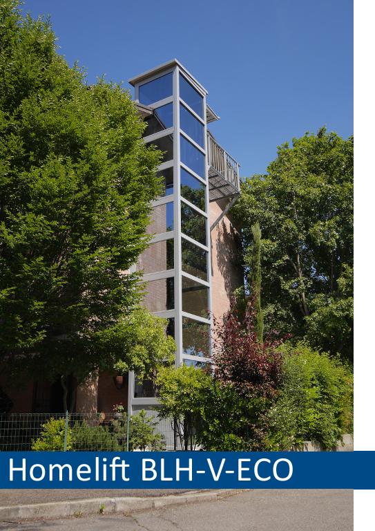 Der Homelift BLH-V-ECO ist die perfekte Alternative um Hotels, Pensionen und Gasthäuser barrierefrei zu gestalten
