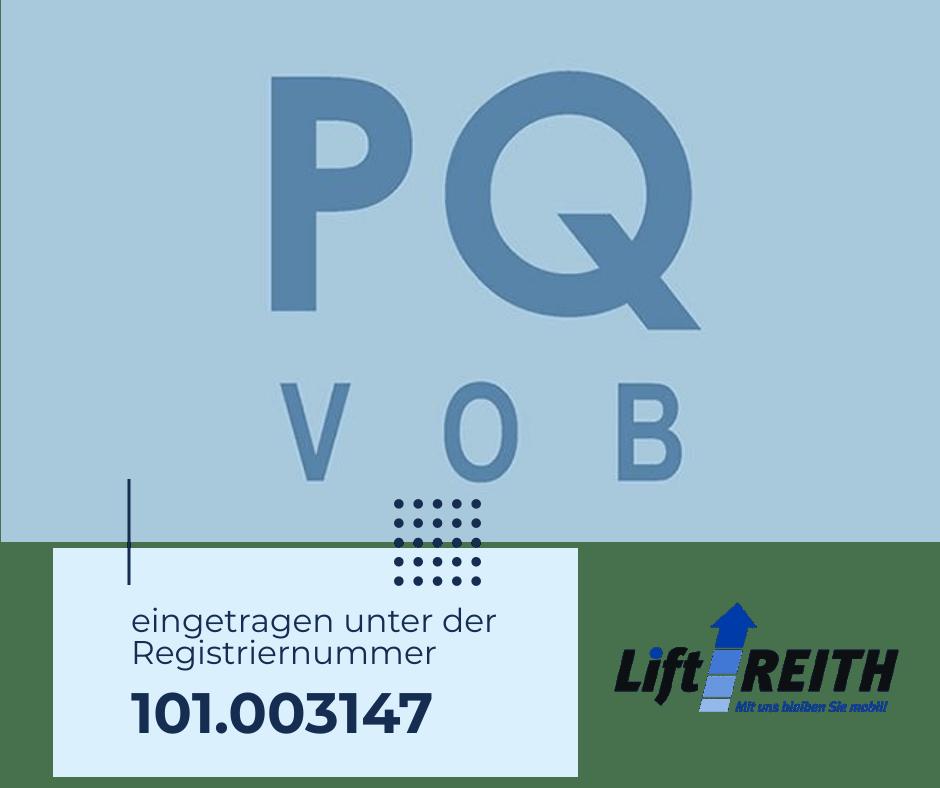 Lift Reith erlangt Präqualifikation für öffentliche Bauunternehmen PQ-VOB