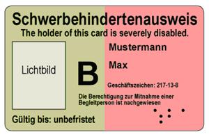 Schwerbehindertenausweis beantragen Muster