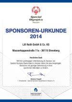 Lift Reith ist offizieller Sponsor der Special Olympics Hessen