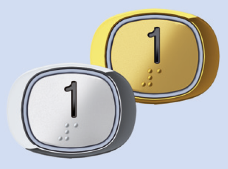 Die mit Brailleschrift versehenen Taster bzw. Bedienknöpfe der Homelifte BLH-D von Lift Reith helfen blinden Personen beim Anwählen der jeweiligen Stockwerke