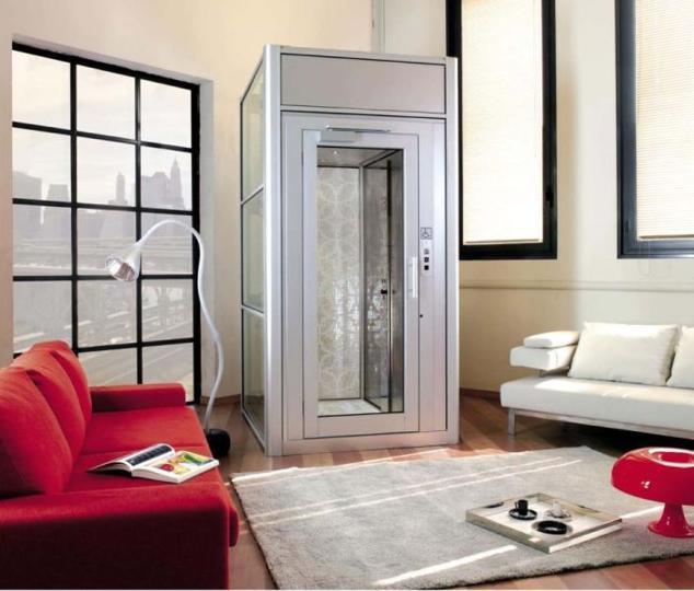 Eleganter Privataufzug BLH-D für den Innenbereich