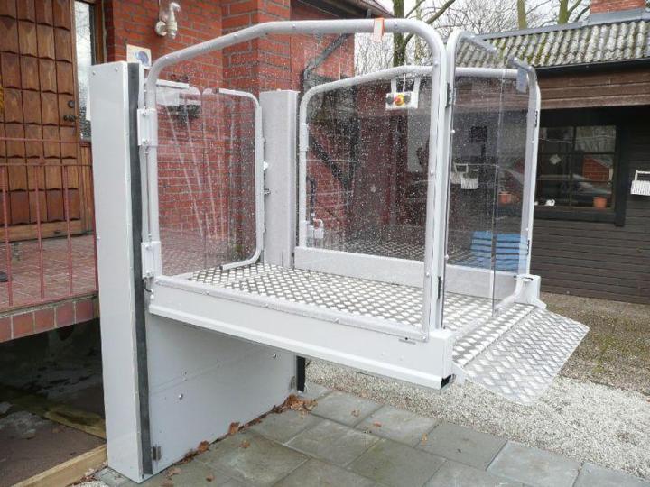 Die Hebeplattform BL-MPR 1000 ist vor ideal für den Außenbereich geeignet