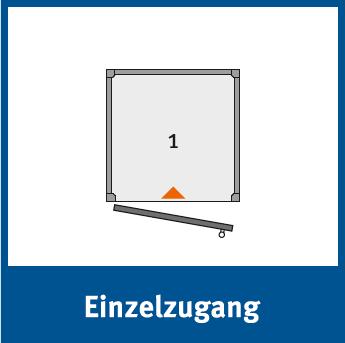 Die Personenlifte BLH-D können mit einem Einzelzugang versehen werden, bei welchem man an der selben Stelle einsteigen und aussteigen kann