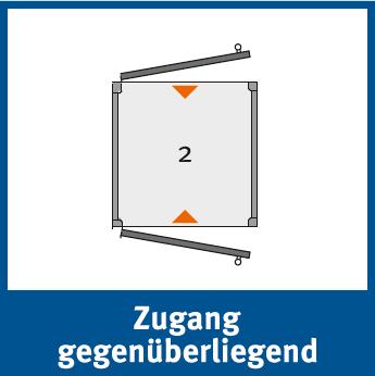 Die Personenlifte BLH-D können mit einem Zugang gegenüberliegend versehen werden, bei welchem man an der gegenüberliegenden Stelle aussteigen kann