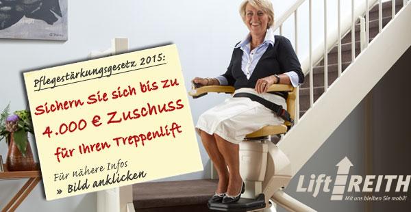 Sichern Sie sich bis zu 4.000 € für Ihren Treppenlift mit dem Zuschuss der Pflegekassen
