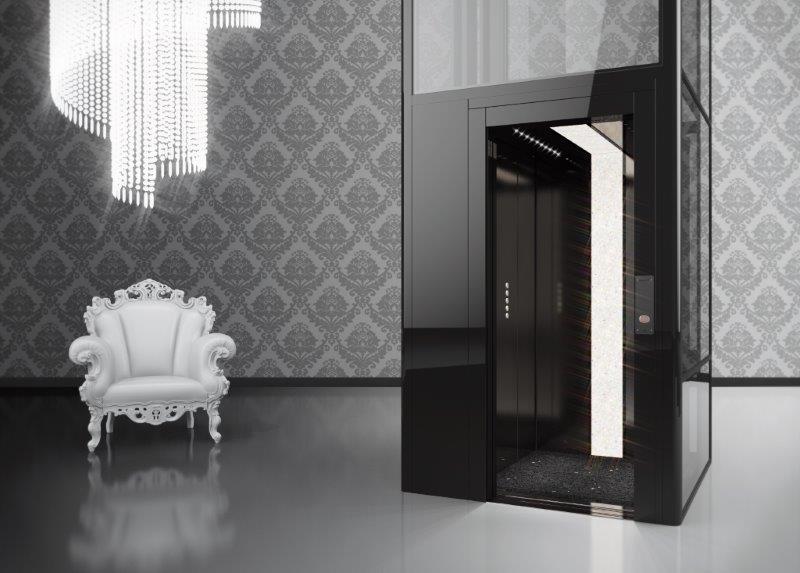 Der luxuriöse Hauslift BLH-D Kristallklar
