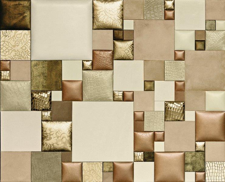 BLH-D Lederwand Material Leder gold