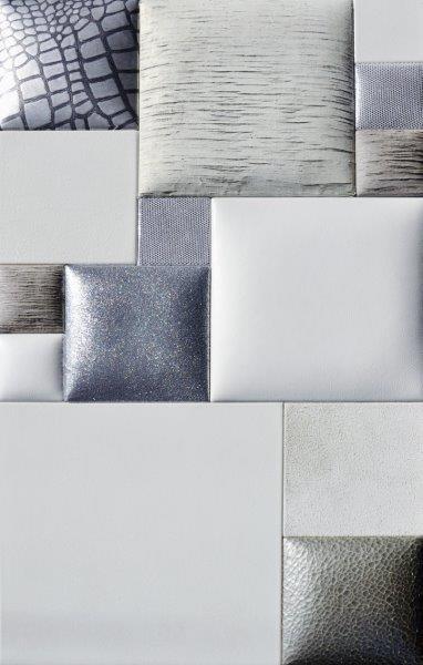 BLH-D Lederwand Material Leder silber