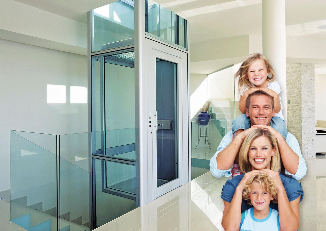 Ein Homelift bringt Sie innerhalb Ihres Hauses von einer Etage in die nächste