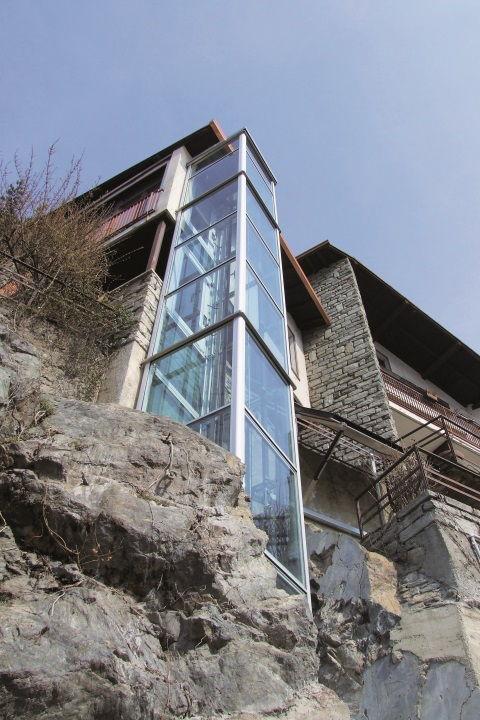 Außenlift BLH-D für Häuser mit Hanglage von Lift Reith