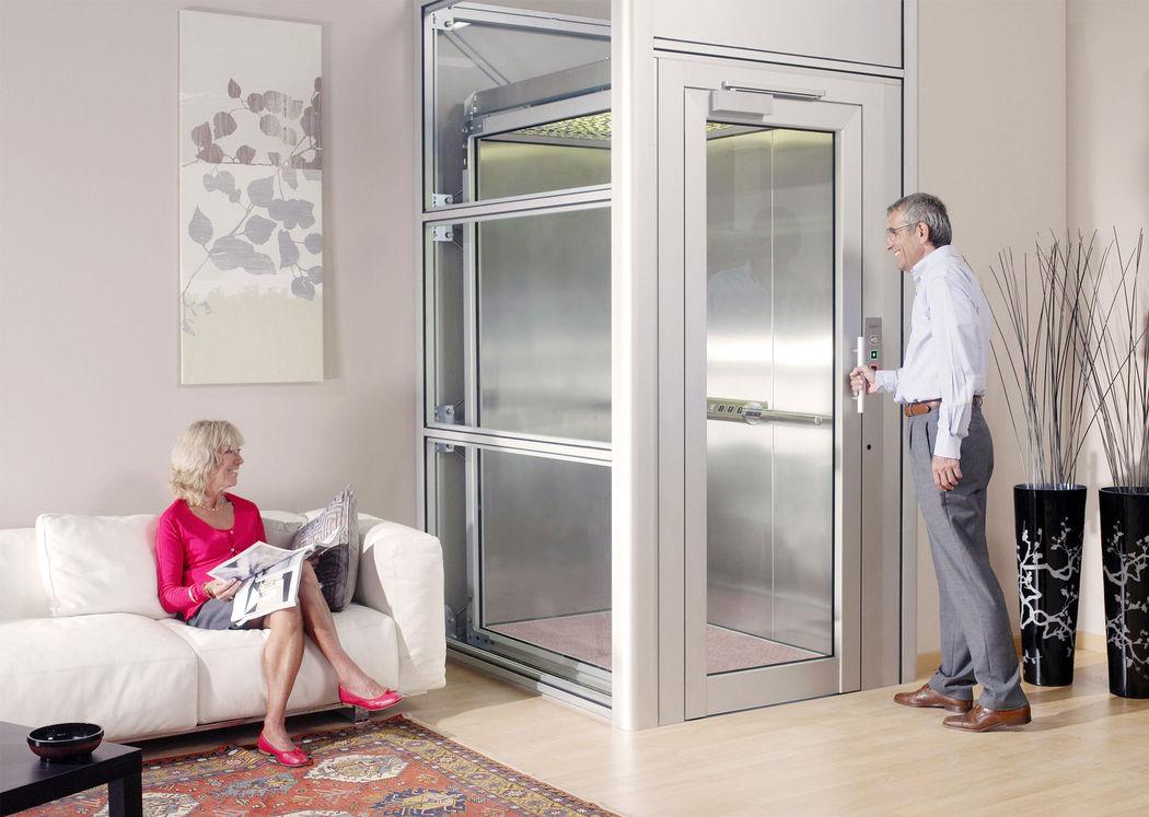Der Homelift BLH-D integriert in einem Mehrgenerationenhaus