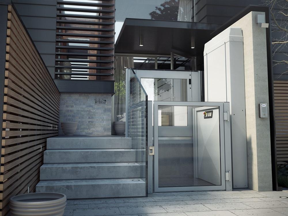 Der Behindertenlift Silver ist die perfekte Zugangsmöglichkeit für private und öffentliche Gebäude