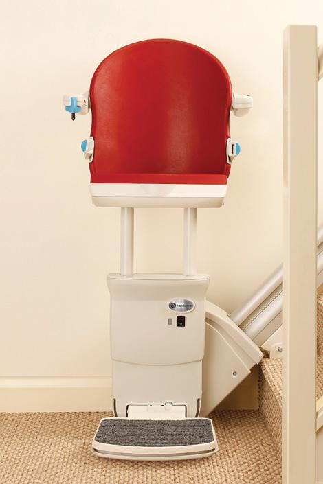 Stehsitz des Lift Reith Treppenlift Sitzes Modell KOMFORT für gerade Treppen
