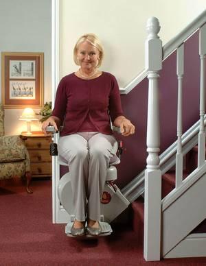 Treppenlift für gerade Treppen